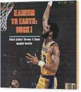 Los Angeles Lakers Kareem Abdul-jabbar, 1980 Nba Western Sports Illustrated Cover Wood Print