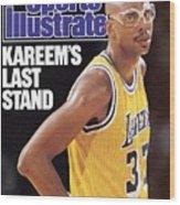 Los Angeles Lakers Kareem Abdul-jabbar Sports Illustrated Cover Wood Print