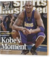 Los Angeles Lakers Kobe Bryant, 2009 Nba Finals Sports Illustrated Cover Wood Print
