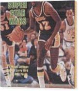 Los Angeles Lakers Magic Johnson, 1984 Nba Finals Sports Illustrated Cover Wood Print