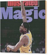 Los Angeles Lakers Magic Johnson, 1990 Nba Western Sports Illustrated Cover Wood Print