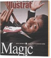 Los Angeles Lakers Magic Johnson Sports Illustrated Cover Wood Print