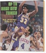 Los Angeles Lakers Magic Johnson... Sports Illustrated Cover Wood Print