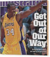 Los Angeles Lakers Shaquille Oneal, 2001 Nba Western Sports Illustrated Cover Wood Print