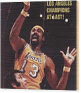 Los Angeles Lakers Wilt Chamberlain, 1972 Nba Finals Sports Illustrated Cover Wood Print
