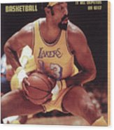 Los Angeles Lakers Wilt Chamberlain, 1972 Nba Western Sports Illustrated Cover Wood Print