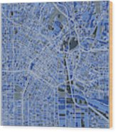 Los Angeles Map Retro 5 Wood Print