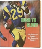 Los Angeles Rams Eric Dickerson... Sports Illustrated Cover Wood Print