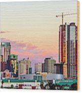 Los Angeles Skyline Sunset - Panorama Wood Print