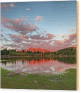 Lost Lake Sunset Wood Print