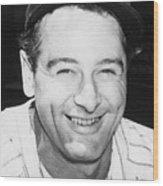 Lou Gehrig Close Portrait Wood Print
