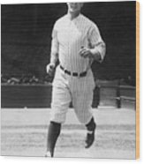 Lou Gehrig Working Out Wood Print
