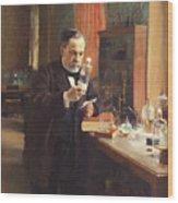 Louis Pasteur. Artist Edelfelt, Albert Wood Print