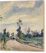 Louveciennes, Road Of Saint-germain - Digital Remastered Edition Wood Print