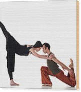 Love Dancing Wood Print
