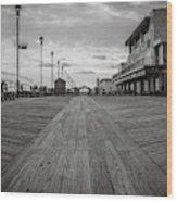 Low On The Boardwalk Wood Print