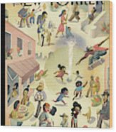 Lower East Side Wood Print