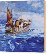 Lowestoft Trawler Wood Print