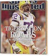 Lsu Glenn Dorsey, 2008 Allstate Bcs National Championship Sports Illustrated Cover Wood Print