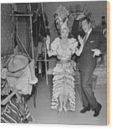 Lucille Ball And Desi Arnaz In I Love Wood Print
