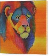 Luminesent Lion  Wood Print