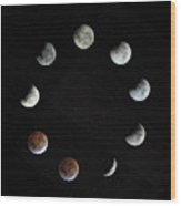 Lunar Eclipse Wood Print