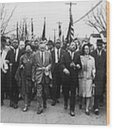 Luther King Marches Wood Print