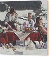 Luxury In The Snow Wood Print