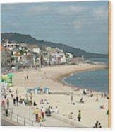 Lyme Regis Beach Wood Print
