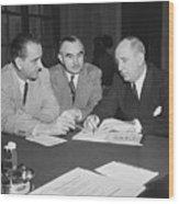 Lyndon B. Johnson, Wayne Morse Wood Print