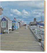 Macmillan Pier Provincetown Cape Cod Massachusetts 01 Wood Print