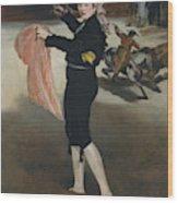 Mademoiselle V      In The Costume Of An Espada  Wood Print
