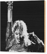 Madonna Concert Performs At Madison Wood Print