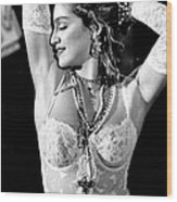 Madonna During A Performance At Mtv Wood Print