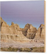 magenta Dawn in the Badlands  Wood Print