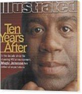 Magic Johnson, Basketball Sports Illustrated Cover Wood Print