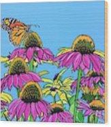 Magnificant Monarch Wood Print