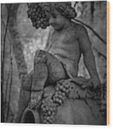 Magnolia Child Statue Wood Print
