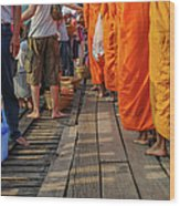 Making Merit Buddhism Wood Print