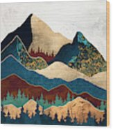 Malachite Mountains Wood Print