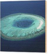 Maldives Coral Islands Wood Print