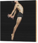 Male Dancer Jumping Wood Print
