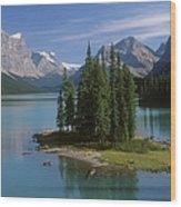 Maligne Lake, Jasper National Park Wood Print