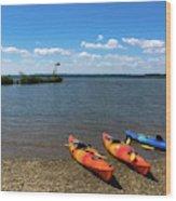 Mallows Bay And Kayaks Wood Print