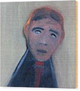 Man In A Black Shirt Wood Print