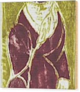 Man In A Crimson Hat Wood Print