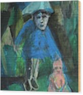 Man In A Park With A Baby Wood Print
