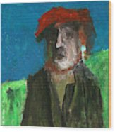 Man In A Red Hat Wood Print