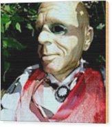 Man In Bushes Wood Print