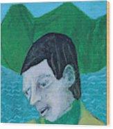 Man Leaving An Island Wood Print